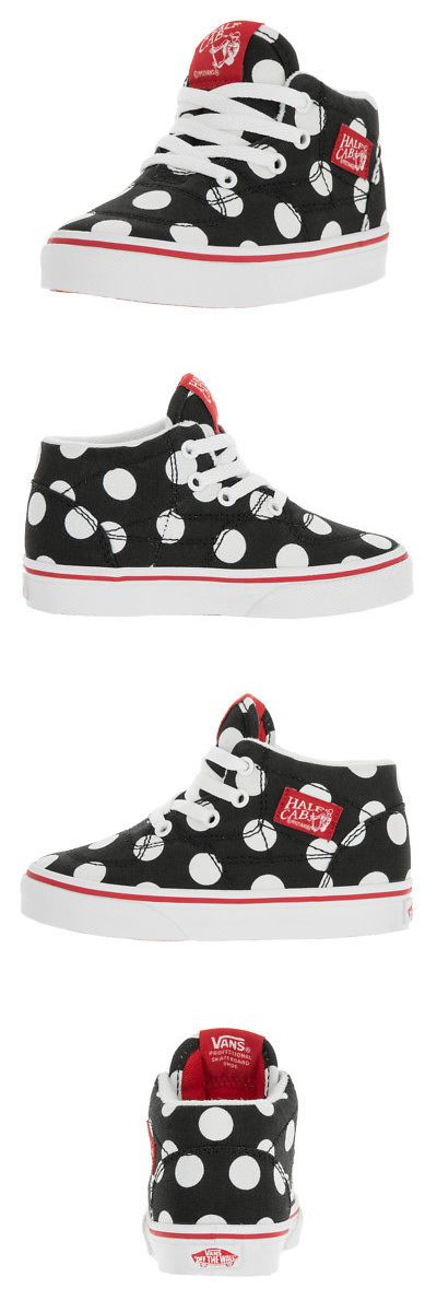 Youth 159072: Vans Toddlers Half Cab (Polka Dot) Black Fiery R Skate Shoe 9 Infants Us -> BUY IT NOW ONLY: $44.9 on eBay!