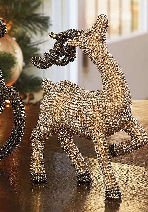 Gold Crystals Twinkle Everywhere Holiday Decor
