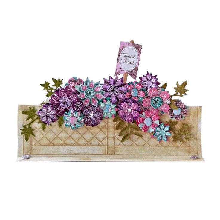 Window Box Cards - Trellis - White