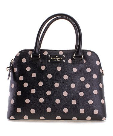 Another great find on #zulily! Black & Deco Beige Polka Dot Rachelle Wellesley Tote #zulilyfinds