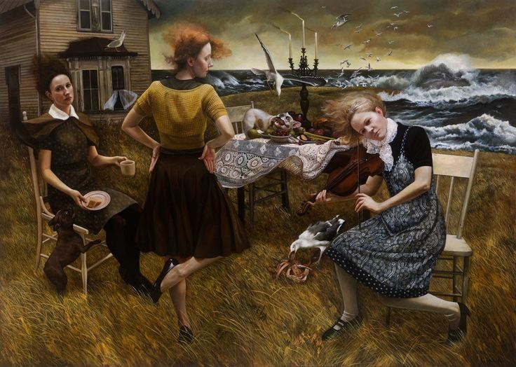 Andrea Kowch, 1986 ~ Symbolist painter - Reminds me so much of that Kathy Bates movie: