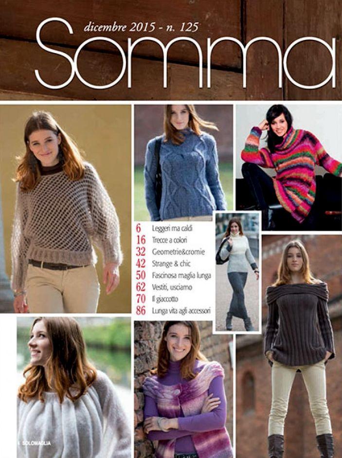 SUSANNA SOLO MAGLIA č. 125 prosince 2015 - italský časopis ruční pletení