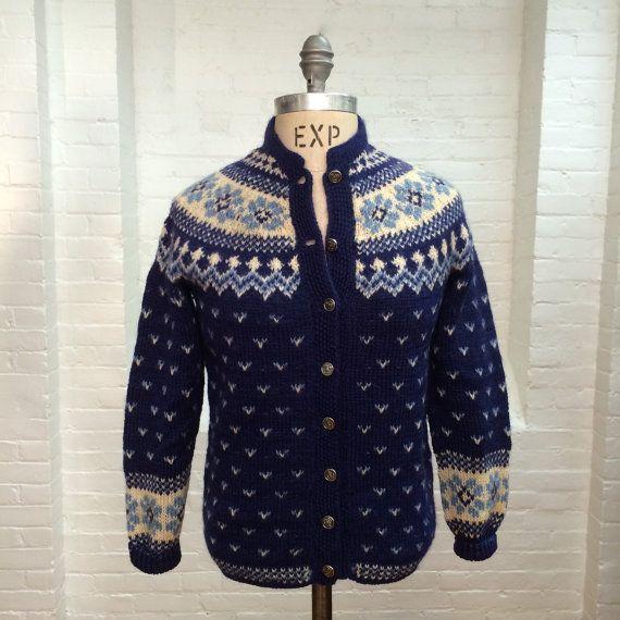 vintage fair isle cardigan // Original Lanz // extra by expvintage
