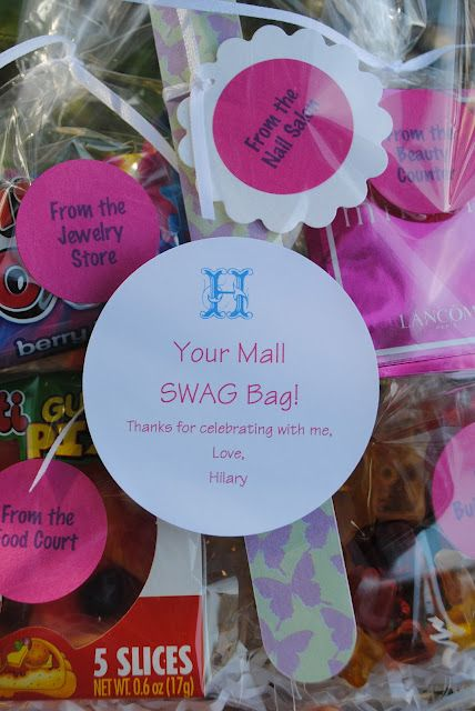Swag Bag - cutest party favor for pre-teens!!!