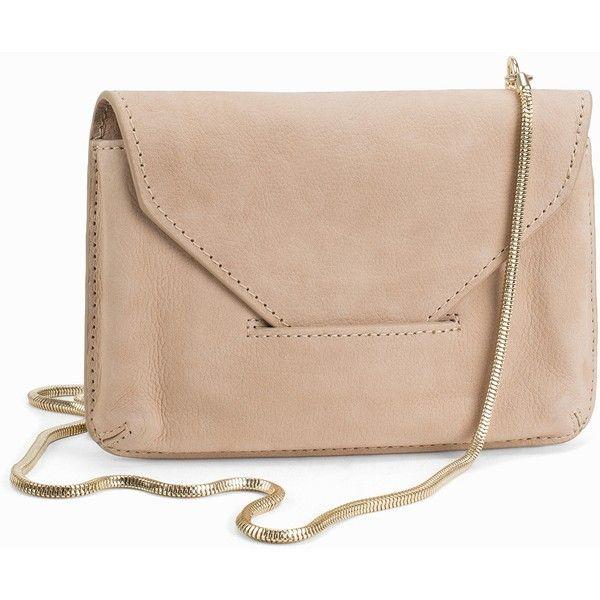 Filippa K Tyra Purse ($140) ❤ liked on Polyvore featuring bags, handbags, accessories, beige, womens-fashion, genuine leather purse, leather flap handbag, leather man bag, pink handbags and hand bags