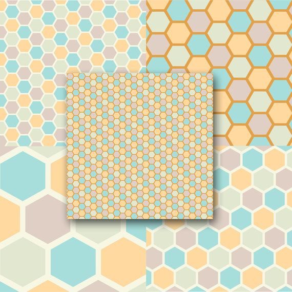 INSTANT DOWNLOAD Honeycomb Patterns Layered by opticillusions