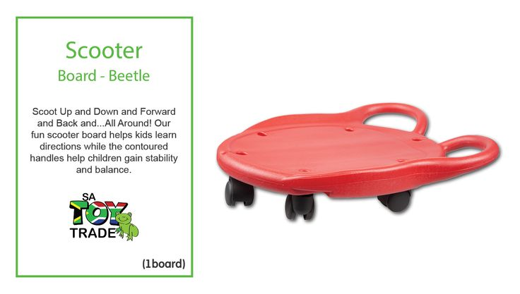 Scoot Up and Down and Forward and Back and...All Around! Our fun scooter board helps kids learn directions while the contoured handles help children gain stability and balance. Develops strength of the upper and lower extremities and can be used in a sitting, kneeling or prone position for prone extension. Supports motor planning and vestibular activities. Designed to encourage balance and motor planning, helps kids estimate speed and distance.
