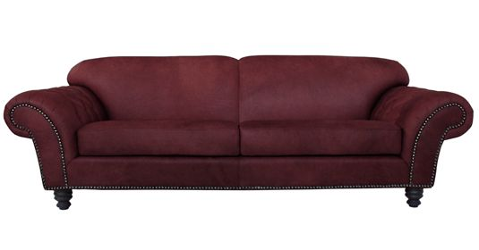 - Milton          100% Leather Couch (  Gazelle Ruby )