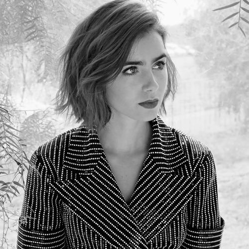 Lily Collins for Yahoo Style