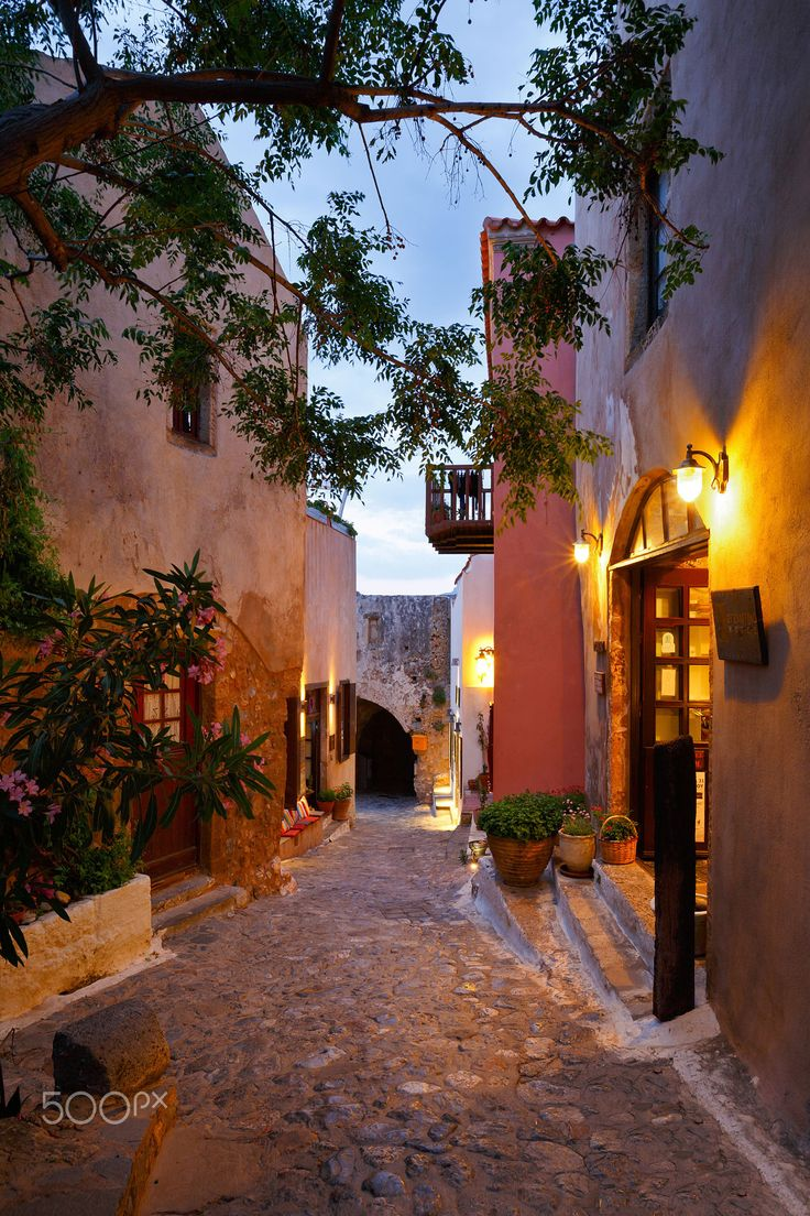Sunset in Monemvasia, Peloponnese, Greece