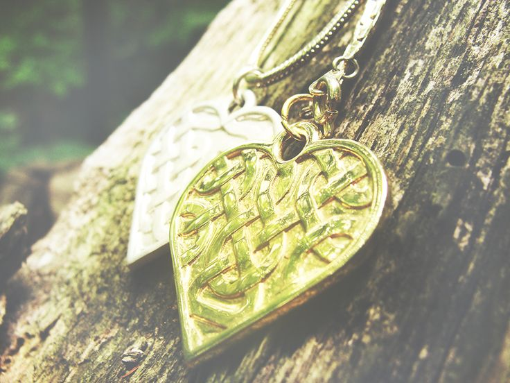 Adorable celtic pendants for two. Silver or gold?