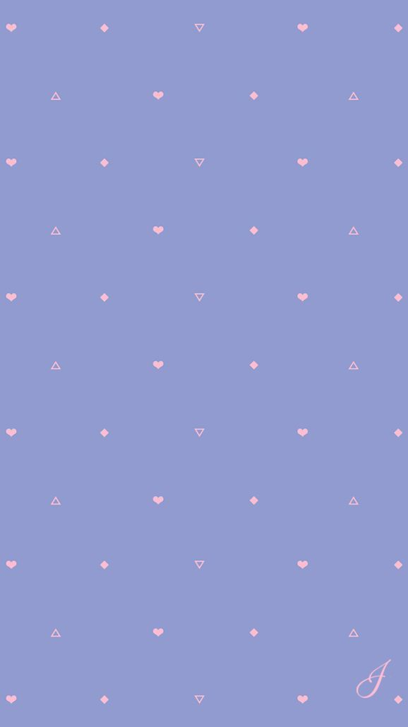 Periwinkle Hearts And Triangles Wallpaper In 2019 Cute
