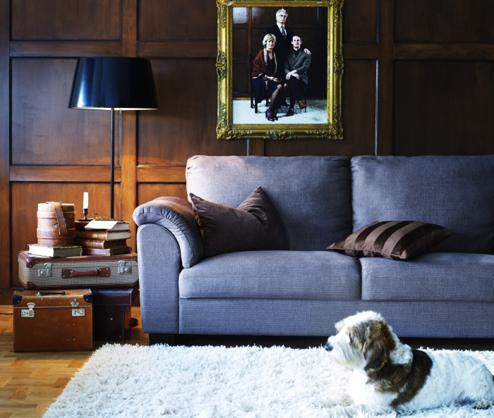 TIDAFORS Sofa, Dansbo Medium Brown
