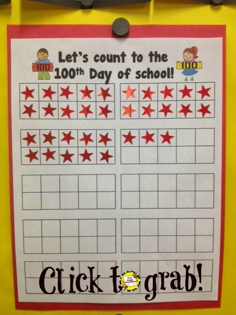 EASY and Meaningful Way to Record 100 Days of School | First Grade Bloomabilities | Bloglovin'
