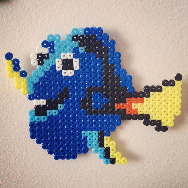 Finding Nemo Dory perler beads by perlercreations