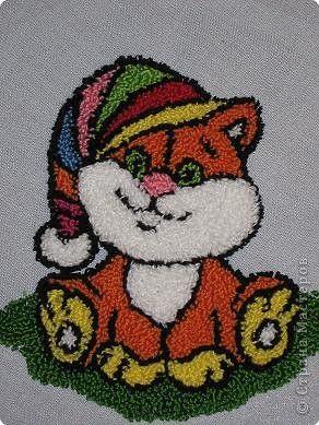 PUNCH NEDLE Мастер-класс Вышивка ковровая: РЫЖИК Ткань. Фото 1