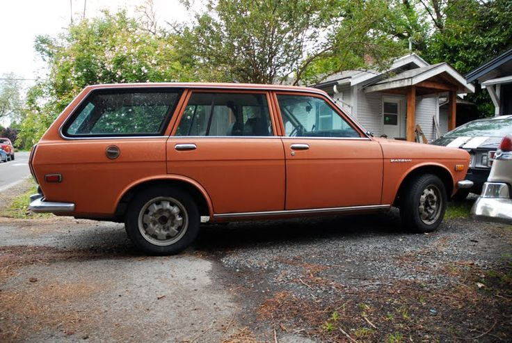 "Halloween machine, wagon version. (1971 Datsun 510 Wagon from the site ""oldparkedcars.com""!)"