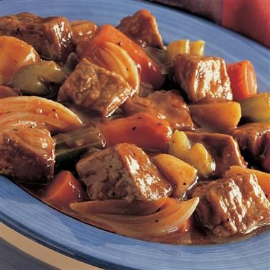Beef stew is a classic, savory meal that will warm your family up on a cold winter night.