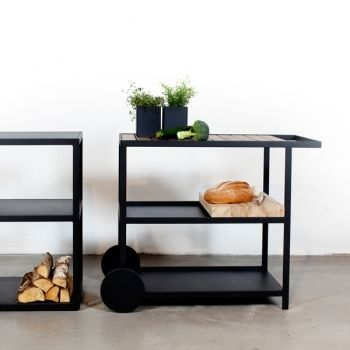 Fabulous Here our Garden Sideboard and Garden Trolley is presented both providing storage as well as workplace for outdoor cooking by roshults