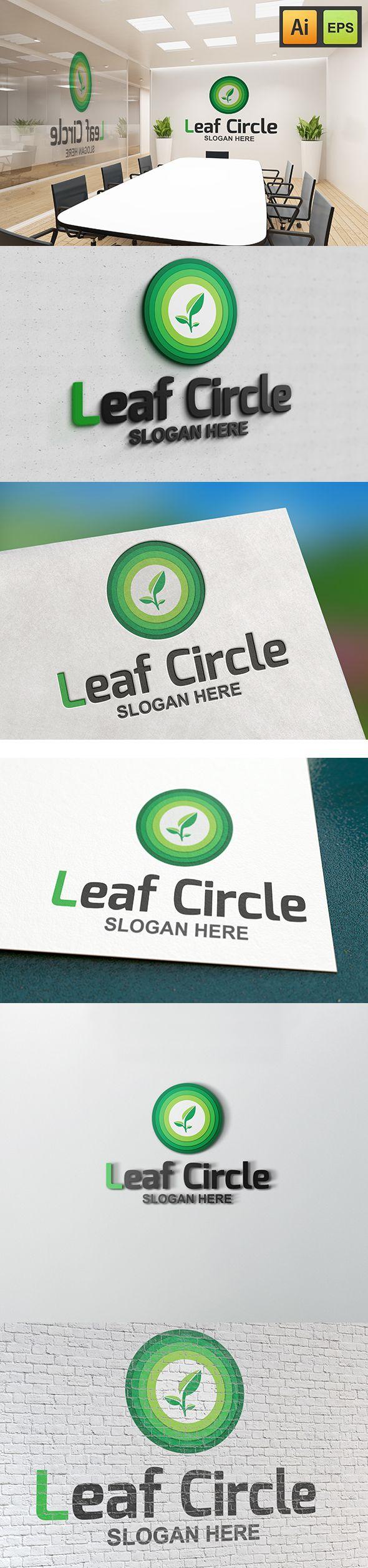 """@Behance projeme göz atın: """"Leaf Circle Logo""""…"""