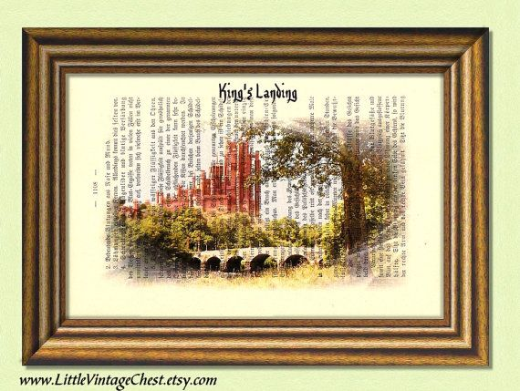 Game of Thrones KING'S LANDING   Dictionary Art by littlevintagechest