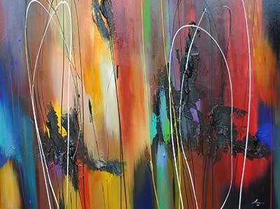 La Fiamma - painting by Pietro Adamo at Crescent Hill Gallery