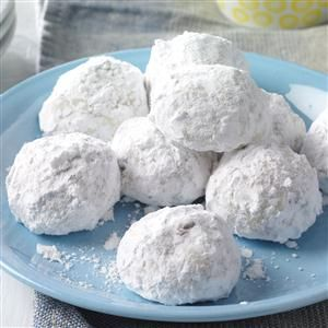 Chocolate Snowballs Recipe -This is my favorite Christmas cookie recipe. The cookies remind me of the snowballs I'd pack as a child during winters here in Wisconsin. —Dee Derezinski, Waukesha, Wisconsin