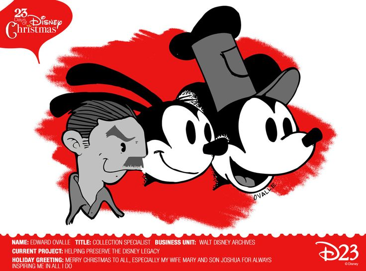 Love this one - Walt, Oswald and Mickey! 23 Days of Christmas « #Disney @Disney D23 | The Official Disney Fan Club