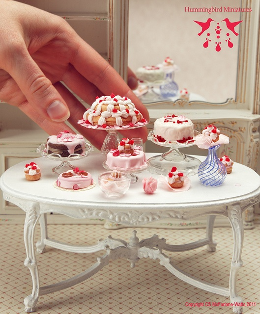 Mini desserts and table