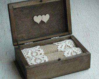 Anello di nozze anello portatore cuscino di DecoupageMargaret