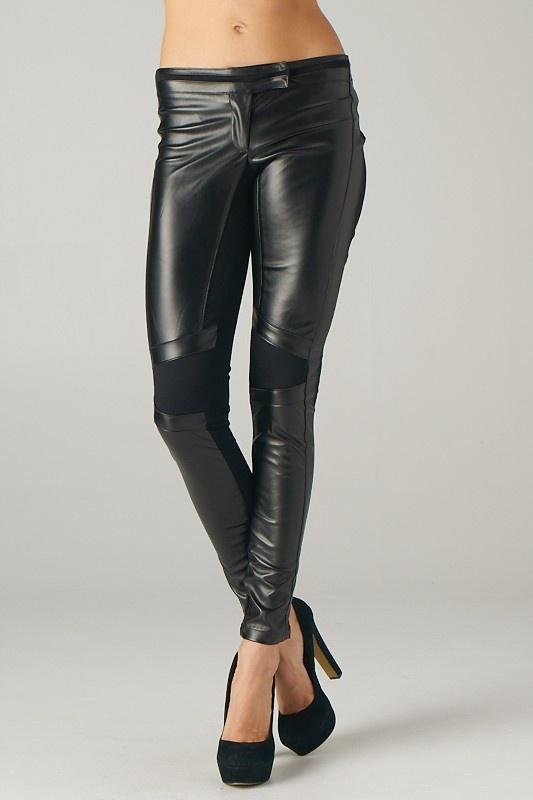 Lavishville - Pleather and Ponte Biker Pants (Black), $40.00 (http://www.lavishville.com/pleather-and-ponte-biker-pants-black/)