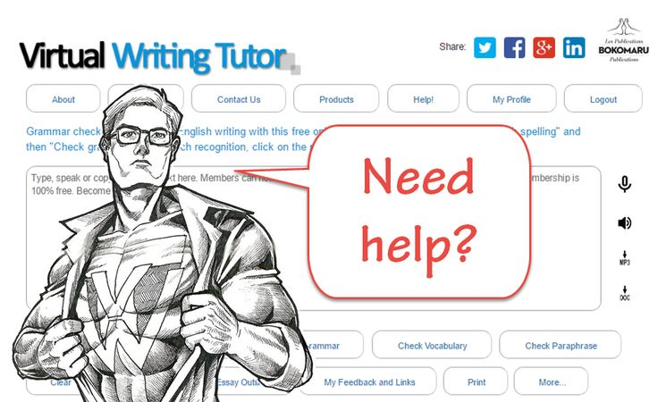 Correct your English writing with VirtualWritingTutor.com - the best grammar checker, sentence checker, punctuation checker, and spell checker for second language learners.
