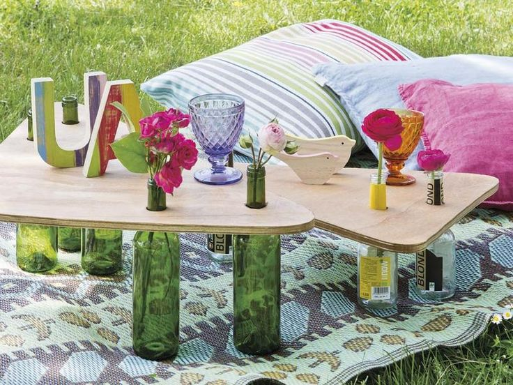 #Mesas para el #jardin #Reciclar #DIY