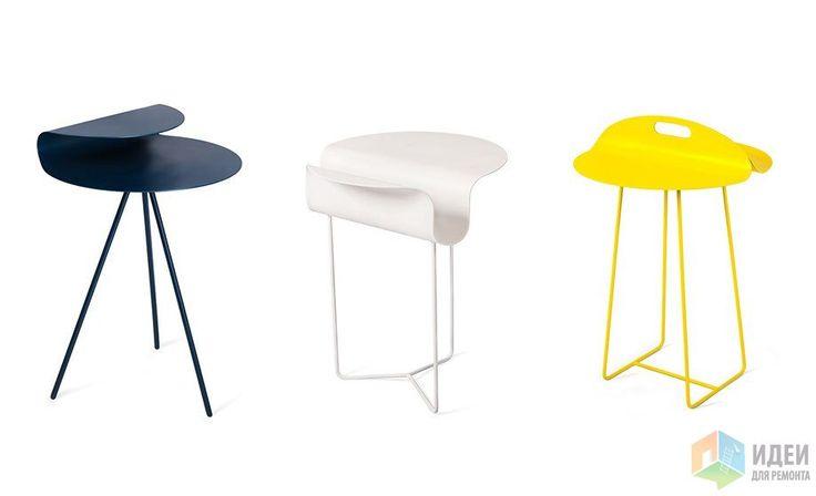 Многофункциональные столики, круглый металлический столик