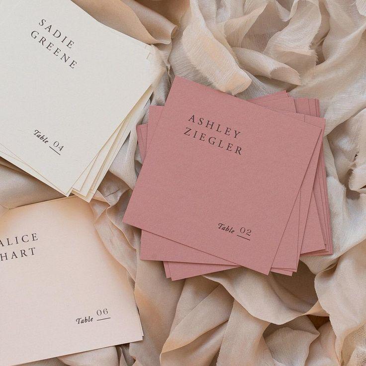 typo boutique  square & color palette #weddinginvitation