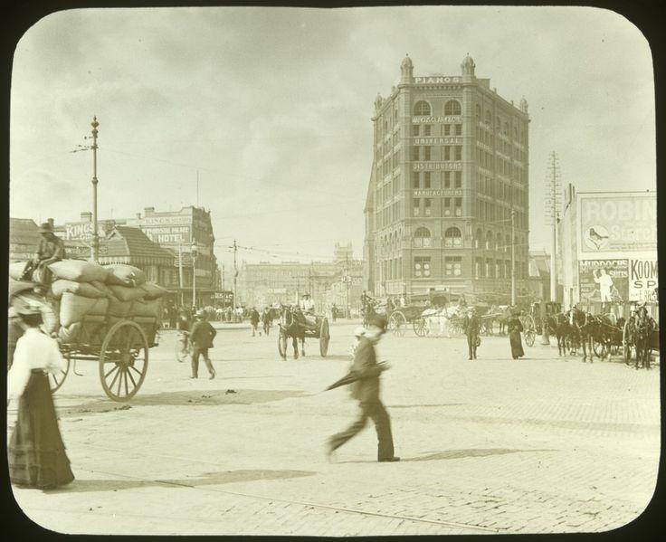 Corner of Pitt and George Streets, Sydney c 1910