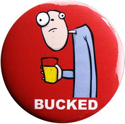 Bucked Bucks Party Badge - Red