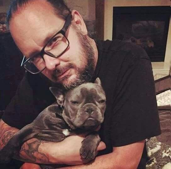 JD and his new French bull dog