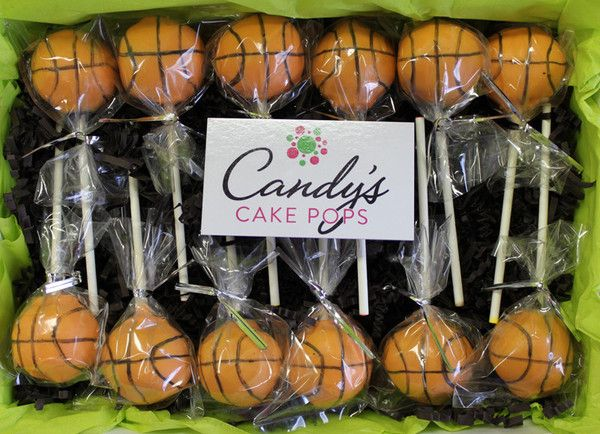 Basketball Cake Pops from Candy's Cake Pops (($))