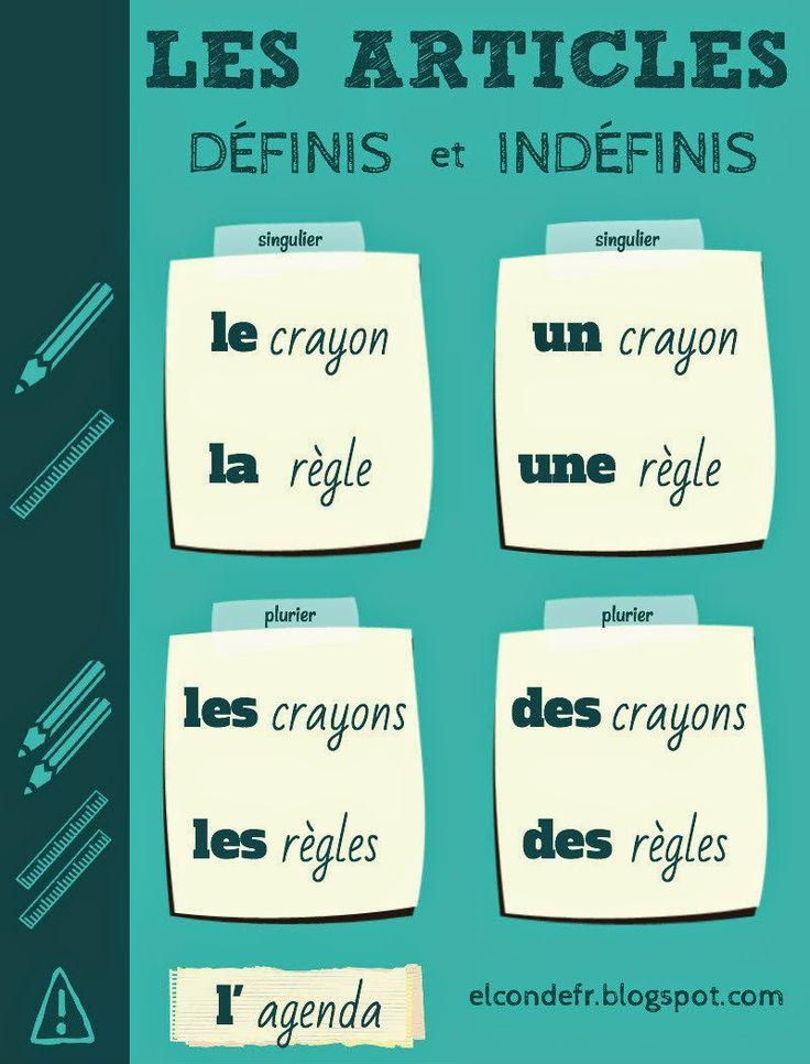 El Conde. fr: Les articles définis et indéfinis en français