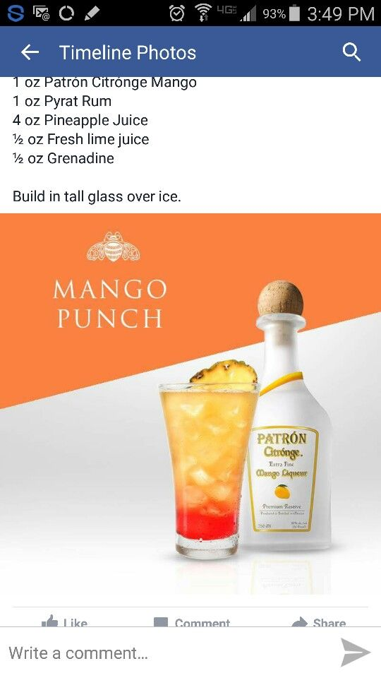 Patron Mango Punch