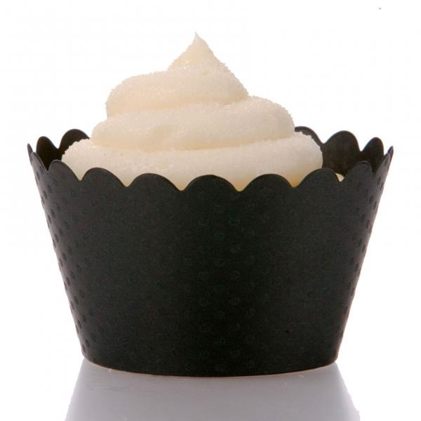 Black Cupcake Wrappers - Pack of 12 from How Divine https://www.howdivine.com.au/store/product/black-cupcake-wrappers-pack-of-12