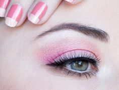 maquillage yeux corail rose