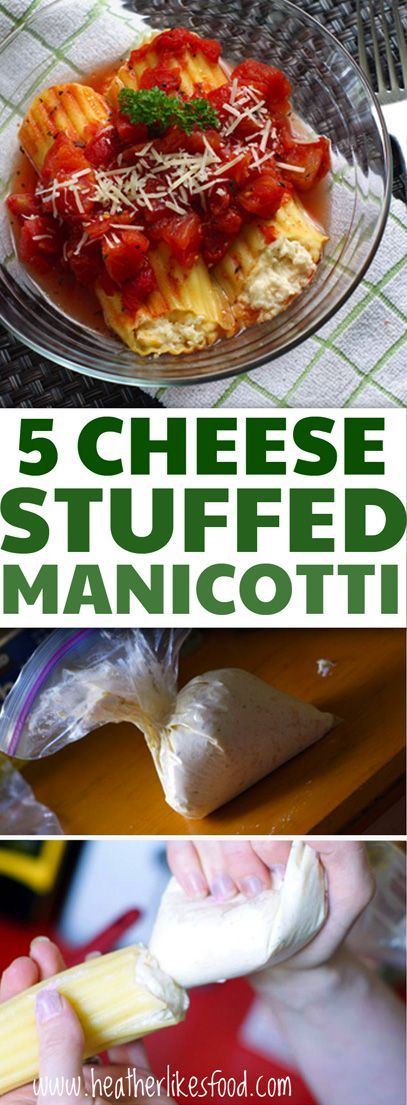 "I'm going to go out on a limb and throw out there that this 5 cheese stuffed manicotti isn't exactly ""authentic Italian"". But for what it lacks in authenticity it makes up for in deliciousness."