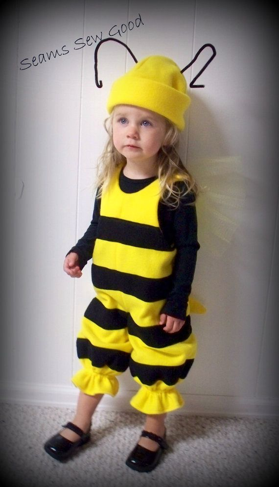 Bzzzz.....The perfect costume for the little bumble bee in your life. Bumble bees are beautiful and useful. Im sure your little bee would be too.