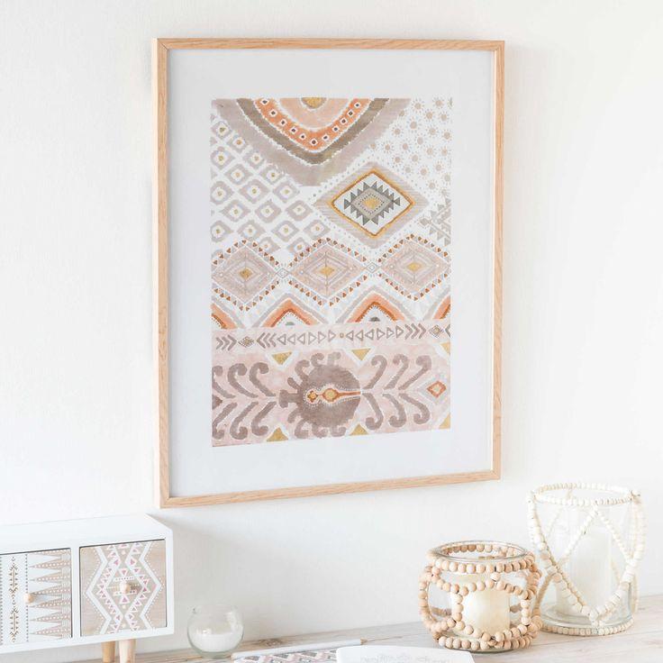 maison du monde tableau elegant six cadres duherbiers aligns au dessus duune commode fuchsia. Black Bedroom Furniture Sets. Home Design Ideas
