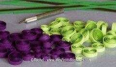 ronds quilling pour collage grains de raisins