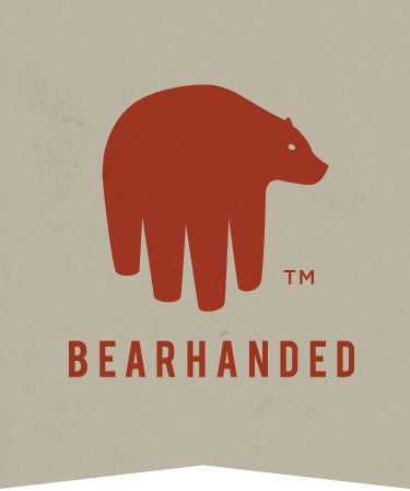 Bearhanded logo This logo is very creative and unique. The creamy colored background and the orange bearhanded logo conveys a very relaxed mood. The font, spacing of the words and the shape of this logo makes it look modern and clean.