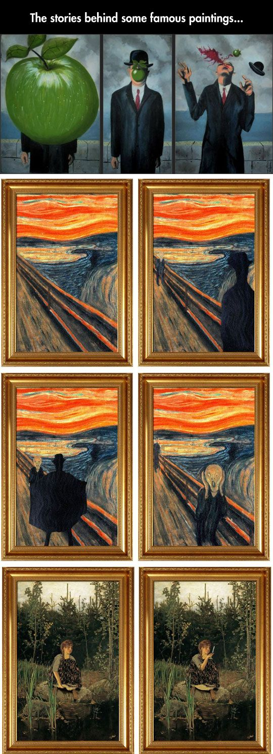 The stories behind some famous paintings...