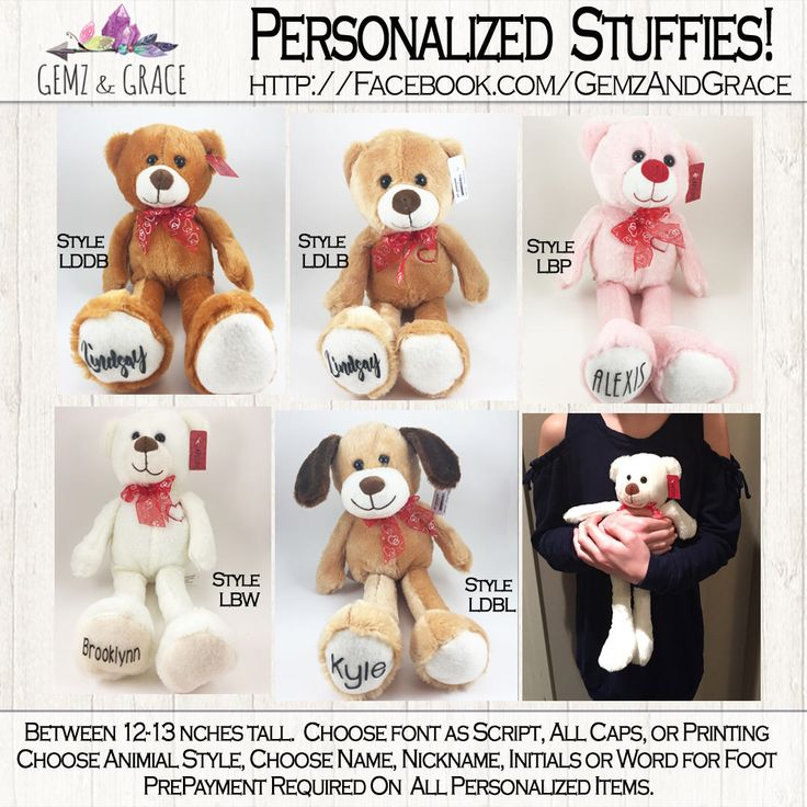 Personalized Valentines Day Gift Stuffie Bear With Name